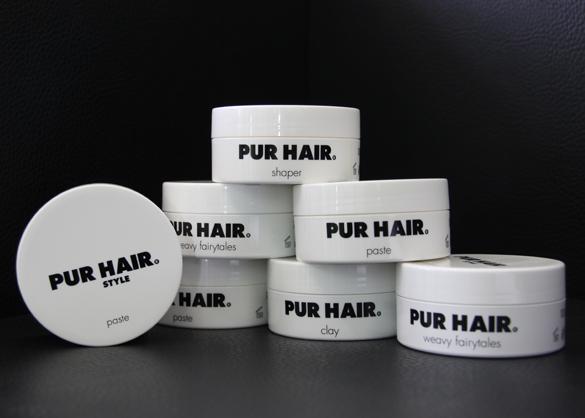 Foto der PUR HAIR Produktserie